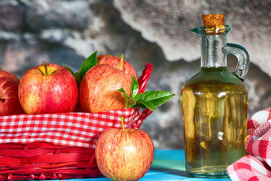 dricka äppelcidervinäger hud